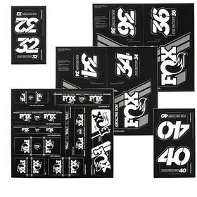 Fox Racing Shox AM Heritage Kit adesivi per forcella e ammortizzatore, nero/bianco